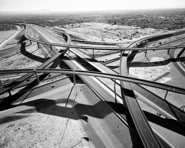 Interchange of Highways 60 and 202 Looking West, Mesa, AZ, 2007