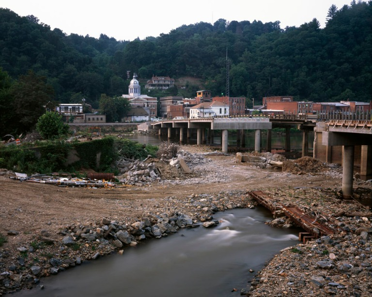 Bridge Reconstruction - The French Broad River, Marshall, North Carolina