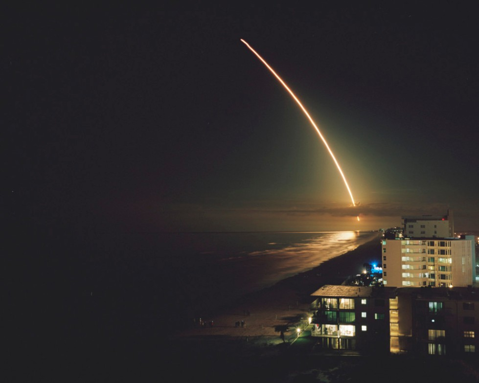 ULA Atlas V launch carrying MUOS-3 satellite